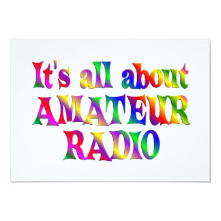 All About Amateur Radio Card