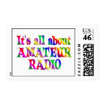 All About Amateur Radio Postage Stamp