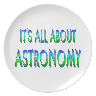 All About Astronomy Dinner Plate