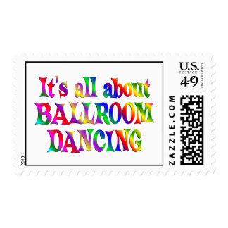 All About Ballroom Dancing Postage Stamps