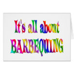 All About Barbequing Greeting Cards