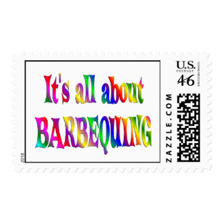All About Barbequing Postage Stamp