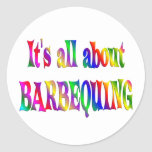 All About Barbequing Round Stickers