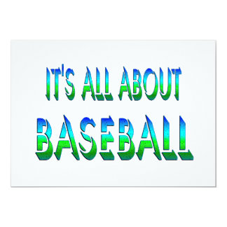 All About Baseball Custom Announcements
