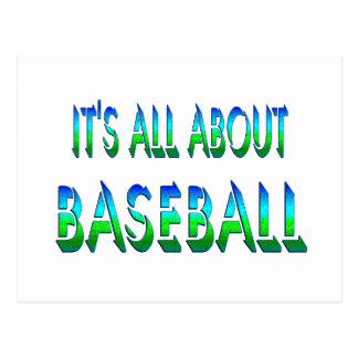 All About Baseball Postcard