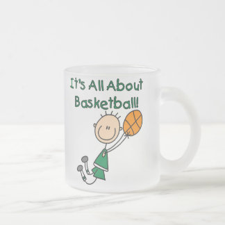 All About Basketball Frosted Glass Coffee Mug