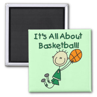 All About Basketball Tshirts and Gifts 2 Inch Square Magnet
