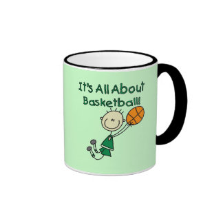 All About Basketball Tshirts and Gifts Ringer Coffee Mug