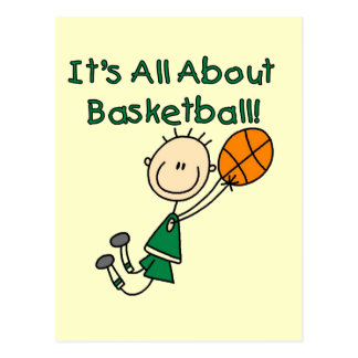 All About Basketball Tshirts and Gifts Postcard