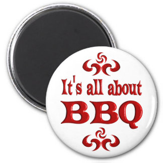 ALL ABOUT BBQ REFRIGERATOR MAGNET