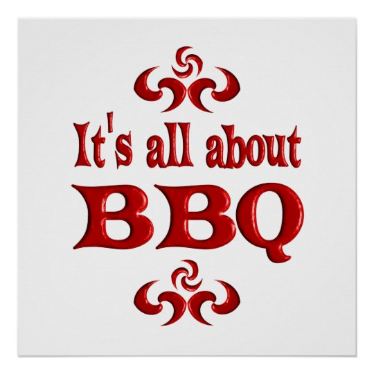 ALL ABOUT BBQ POSTER