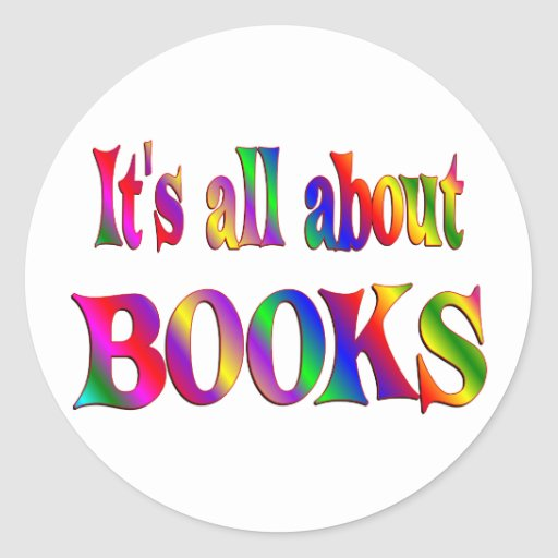 All About Books Classic Round Sticker