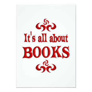 ALL ABOUT BOOKS PERSONALIZED INVITE