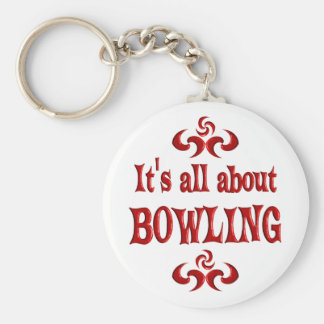 ALL ABOUT BOWLING BASIC ROUND BUTTON KEYCHAIN