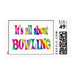 All About Bowling Postage Stamp