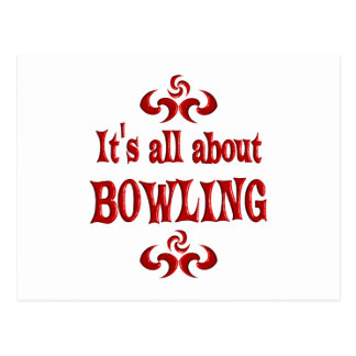 ALL ABOUT BOWLING POSTCARD