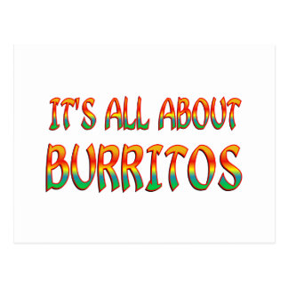 All About Burritos Postcard