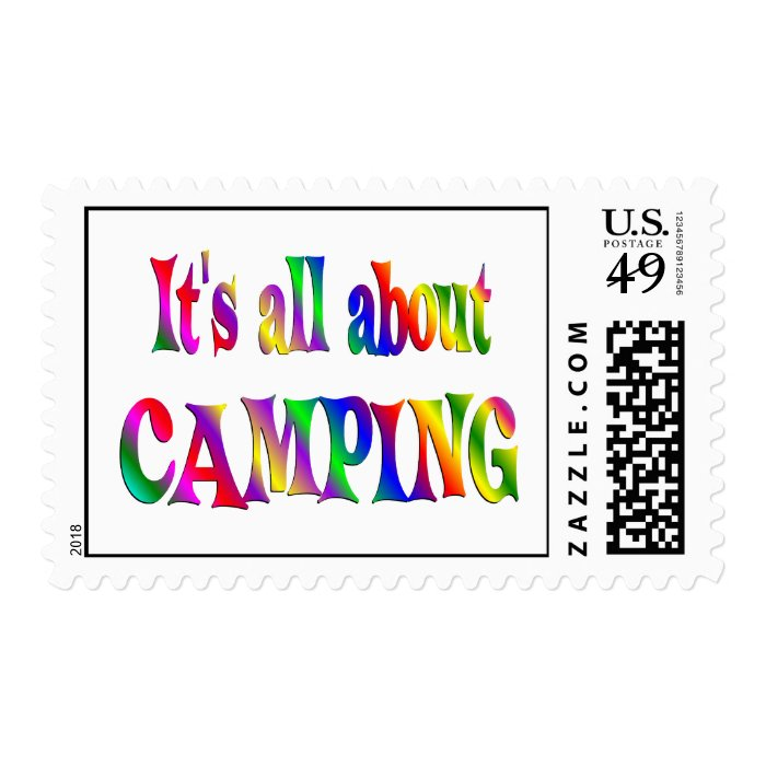 All About Camping Postage