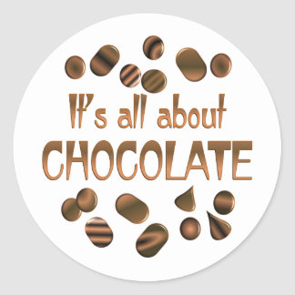 All About Chocolate Classic Round Sticker