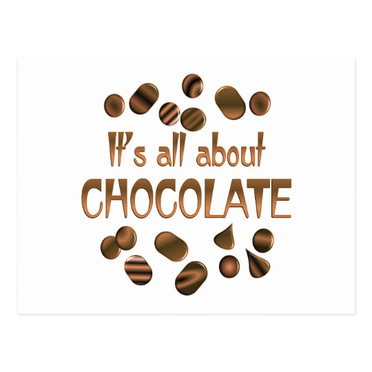 All About Chocolate Postcard