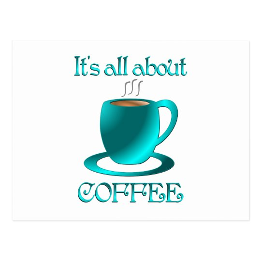 All About Coffee Postcard