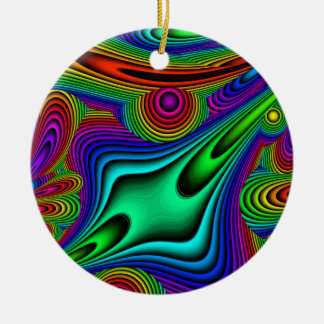 All About Color Round Ornament