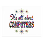 ALL ABOUT COMPUTERS POSTCARD