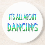 All About Dancing Beverage Coaster