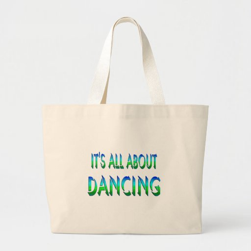 All About Dancing Canvas Bags