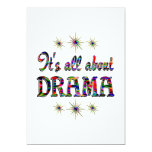 ALL ABOUT DRAMA 5X7 PAPER INVITATION CARD