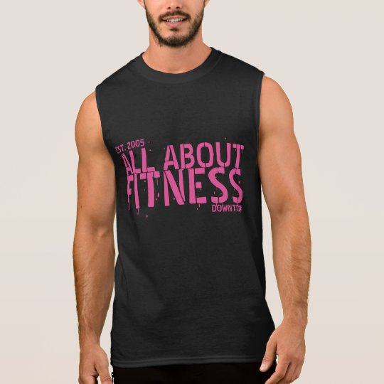 All About Fitness Pink Sleeveless Shirt