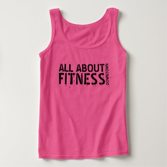All About Fitness Pink Tank Top