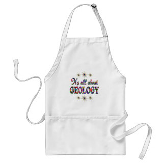 ALL ABOUT GEOLOGY ADULT APRON