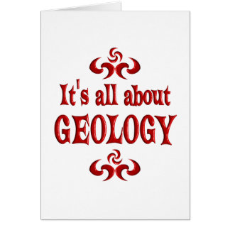 ALL ABOUT GEOLOGY CARD