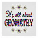 ALL ABOUT GEOMETRY POSTER
