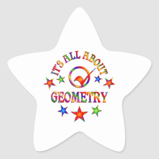 All About Geometry Star Sticker