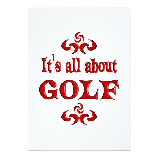 ALL ABOUT GOLF CARD