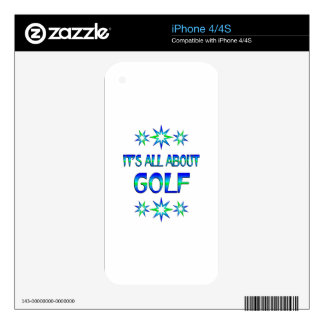 All About Golf Decal For iPhone 4