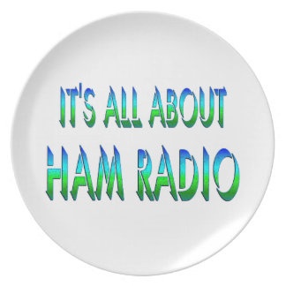All About Ham Radio Party Plate