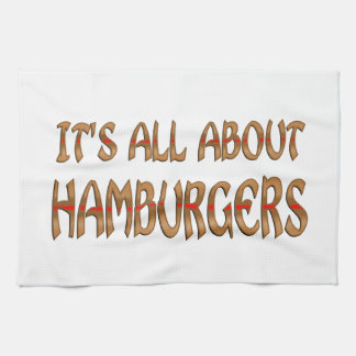 All About Hamburgers Kitchen Towels