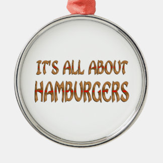 All About Hamburgers Ornaments