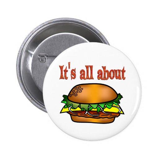 All About Hamburgers Pinback Button