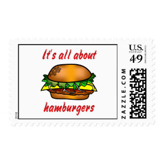 All About Hamburgers Postage