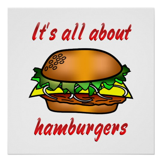 All About Hamburgers Poster