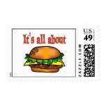 All About Hamburgers Stamp