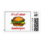 All About Hamburgers Stamps