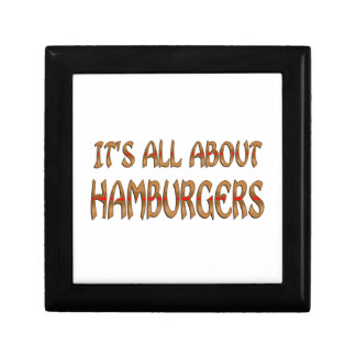 All About Hamburgers Trinket Boxes
