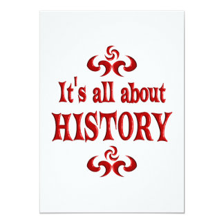 ALL ABOUT HISTORY CARD