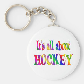 All About Hockey Keychain