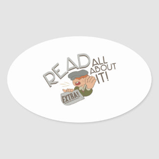 All About It Oval Sticker